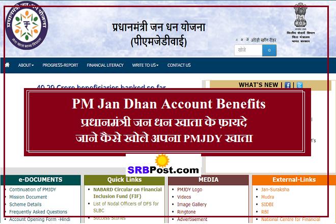PM Jan Dhan Account Benefits