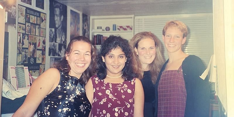 Natasha (second from left) with her classmates at Stanford