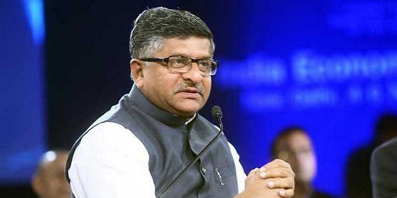 Union Minister of Electronics and Information Technology Ravi Shankar Prasad