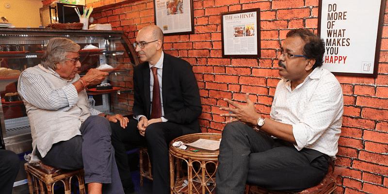 Kallol Ghosh at Cafe Positive in Kolkata