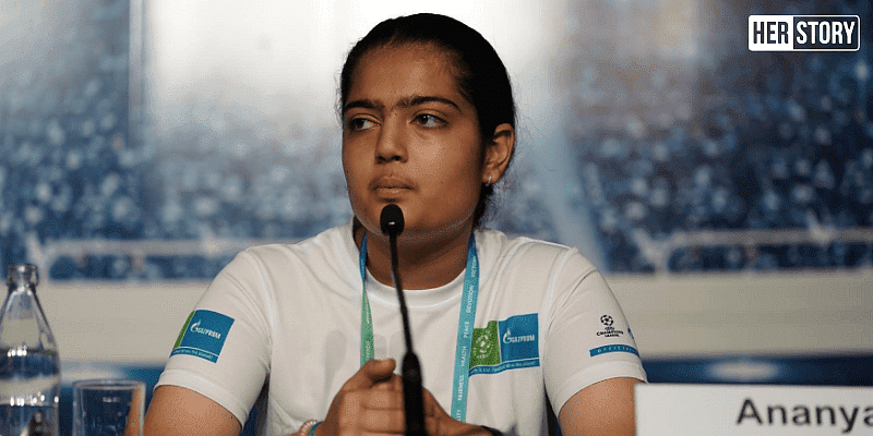 Ananya Kamboj, who has been a part of the Football for Friendship Program as a young journalist.  (Photo courtesy: Ananya Kamboj)