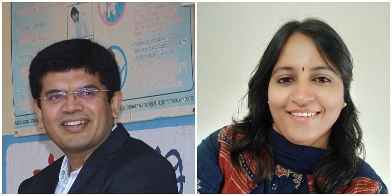 Prashant SB and his wife Dr. Surekha P, founders of Nayonika Eye Care Charitable Hospital