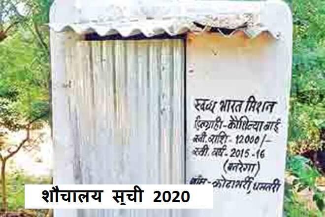 Rural toilet list