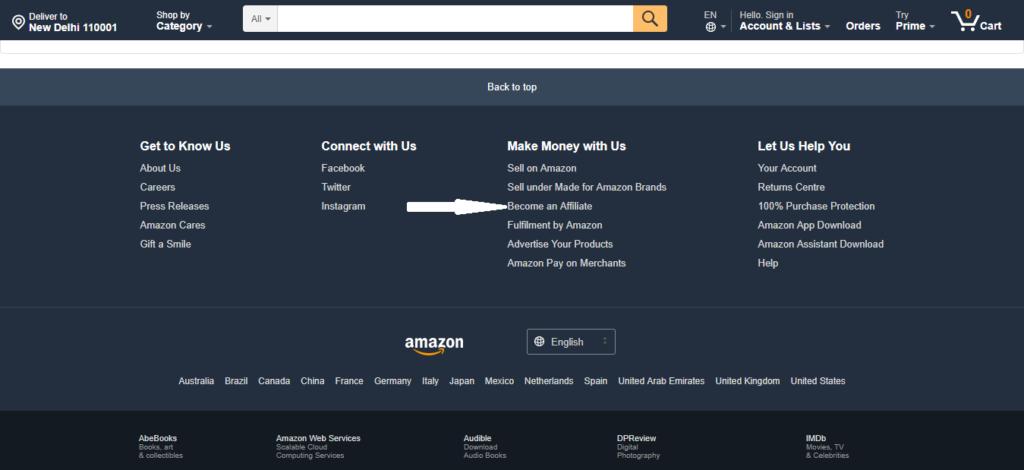 amazon become affiliate