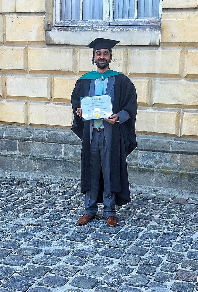 INSEAD graduate in 2016