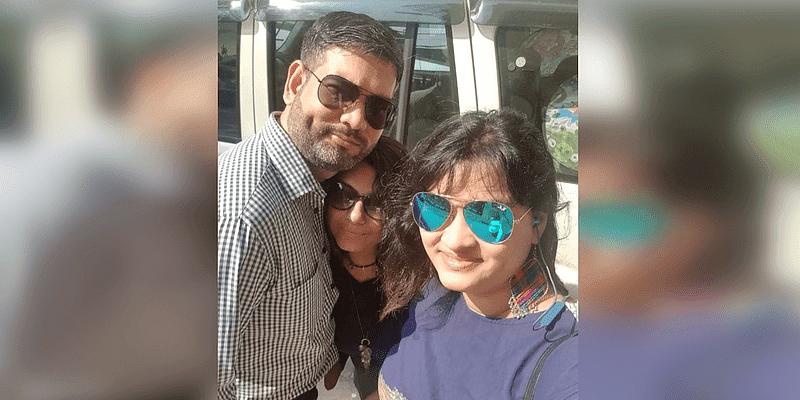 Rajneesh, Tanushree and Krishna, the founders of LoveActuallyMe