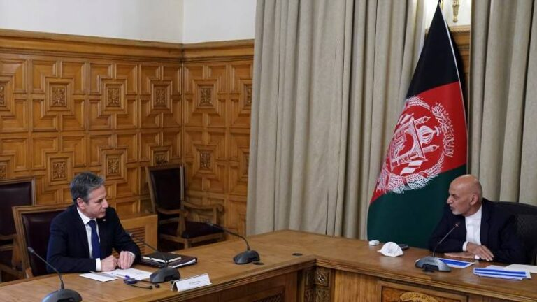 US Foreign Minister Blinken arrives in Kabul amidst announcement of withdrawal of troops from Afghanistan