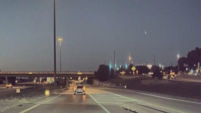 A 'ball of fire' was seen flying in the sky of America, amazing incident caught on camera, see its VIDEO here
