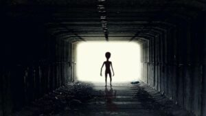 Nick Pope, who investigates UFOs for the British government, claims that we humans cannot stand anywhere in front of aliens because they are millions of years ahead of us in terms of technology.  Their weapons are so modern that they can do 'magic' on us with it.