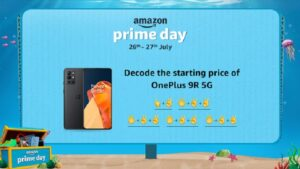 Bring home the free OnePlus 9R 5G smartphone, only till 2 pm