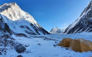 K2 is often referred to as the 'Siren of the Himalayas'. It is believed that only one climber out of 20 is successful in climbing this mountain peak. Because of this it is considered the most dangerous mountain in the world. The death rate on K2 is more than 25 percent while the death rate on Everest is only 6.5 percent. Photo Credit: Team Ali Sadpara