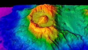 An ancient volcano exists beneath the Indian Ocean. Scientists have discovered the deep eye of this ancient volcano for the first time. This eye is called caldera in common language. After its discovery, scientists did its 3D mapping. What he found after this was a figure that looked exactly like the 'Eye of Sauron' from The Lord of the Rings.