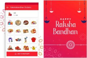 Raksha Bandhan stickers for WhatsApp how to download and send