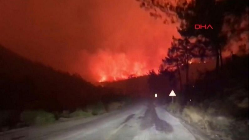 The fire in Turkey's forests is spreading continuously, the flames reach the power plant, the worst situation in history