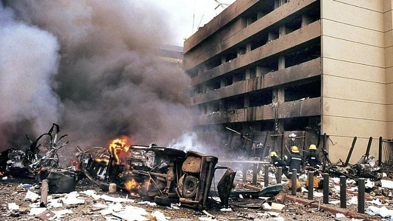 The negligence of the US was heavy on him!  When two US embassies were blown up by terrorists, 224 people lost their lives