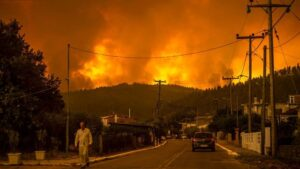 Wildfires in Greece: Forest fires wreaking havoc in Greece, many cities in danger, half the island in the grip