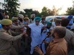 Lakhimpur Violence: Detained Punjab Deputy CM, Congress MLAs, UP-Haryana border were protesting