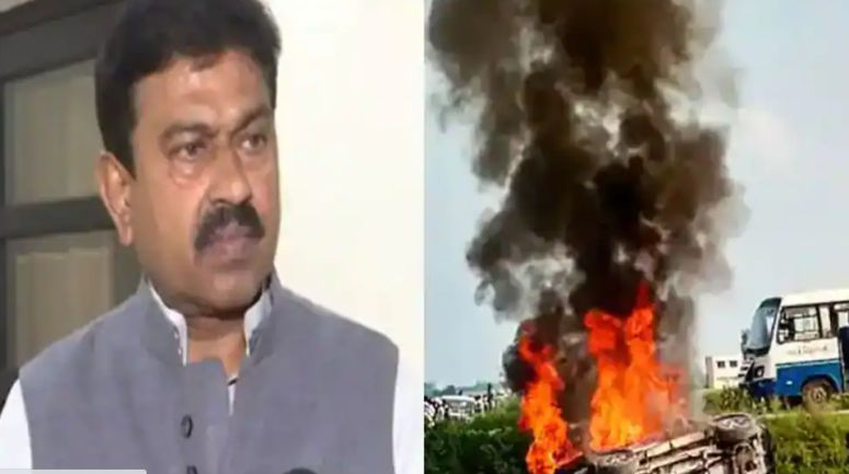 Violence in Lakhimpur Kheri erupted due to this statement of Minister of State for Home Ajay Mishra Teni!  video viral